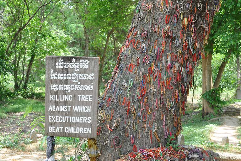 Killing Tree against which executioners beat children