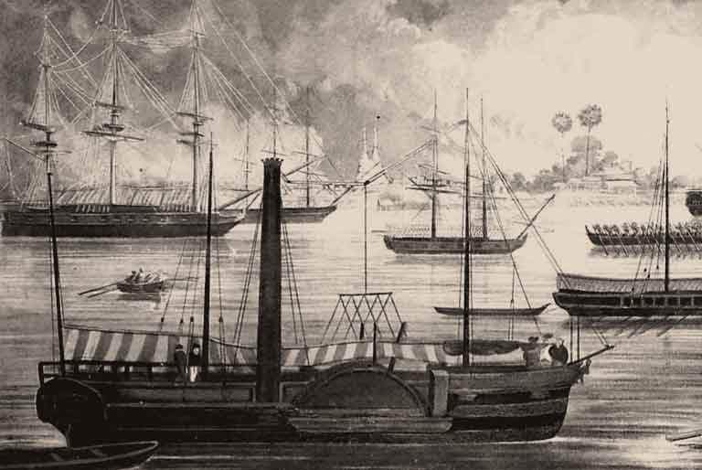 The Diana in Rangoon, 1824