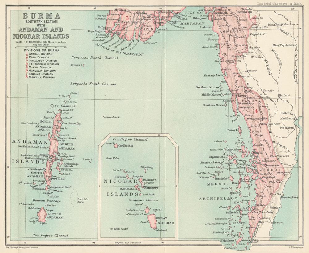 British Burma Map