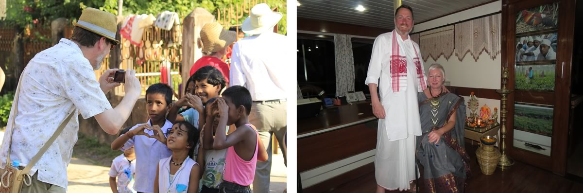 Dawn Clarke and husband/partner Brahmaputra River Cruise