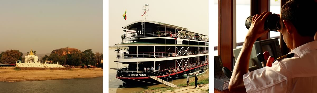 Marcus Williams on the Mandalay Pagan Packet river cruise in Burma