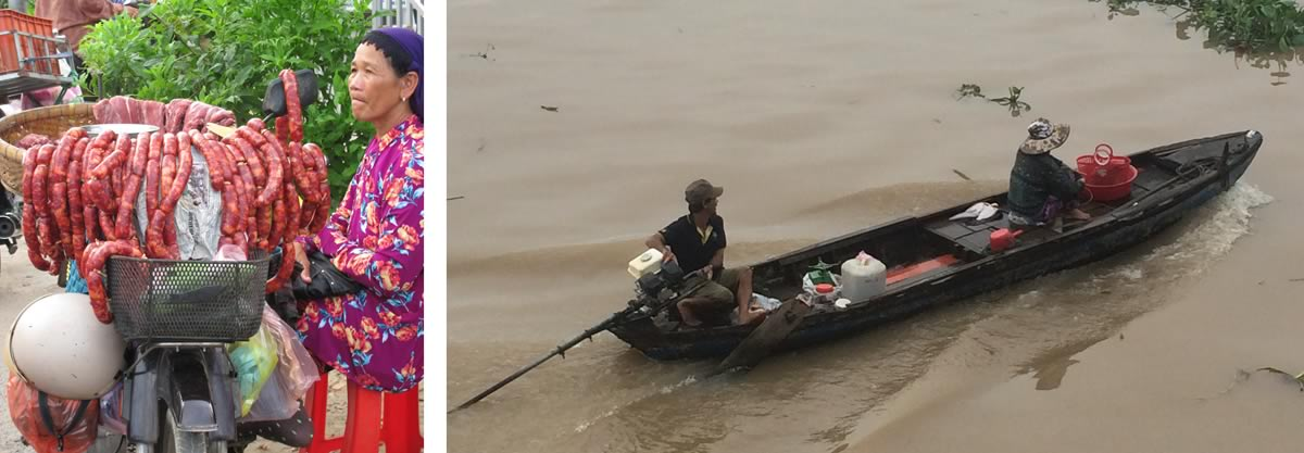 Margaret Kay and Michael Smart on The Classic Mekong River Cruise