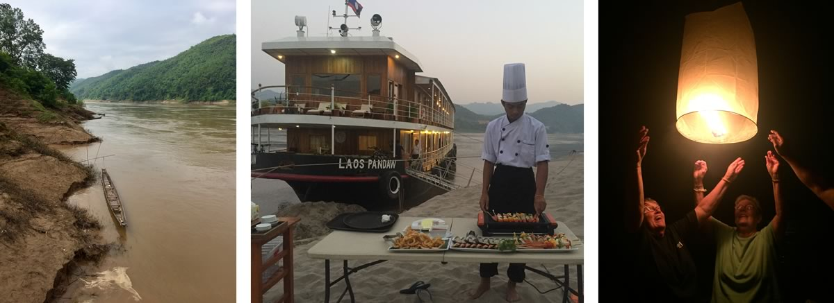 Arlene Wilbers cruising Laos to China on a Pandaw River Cruise