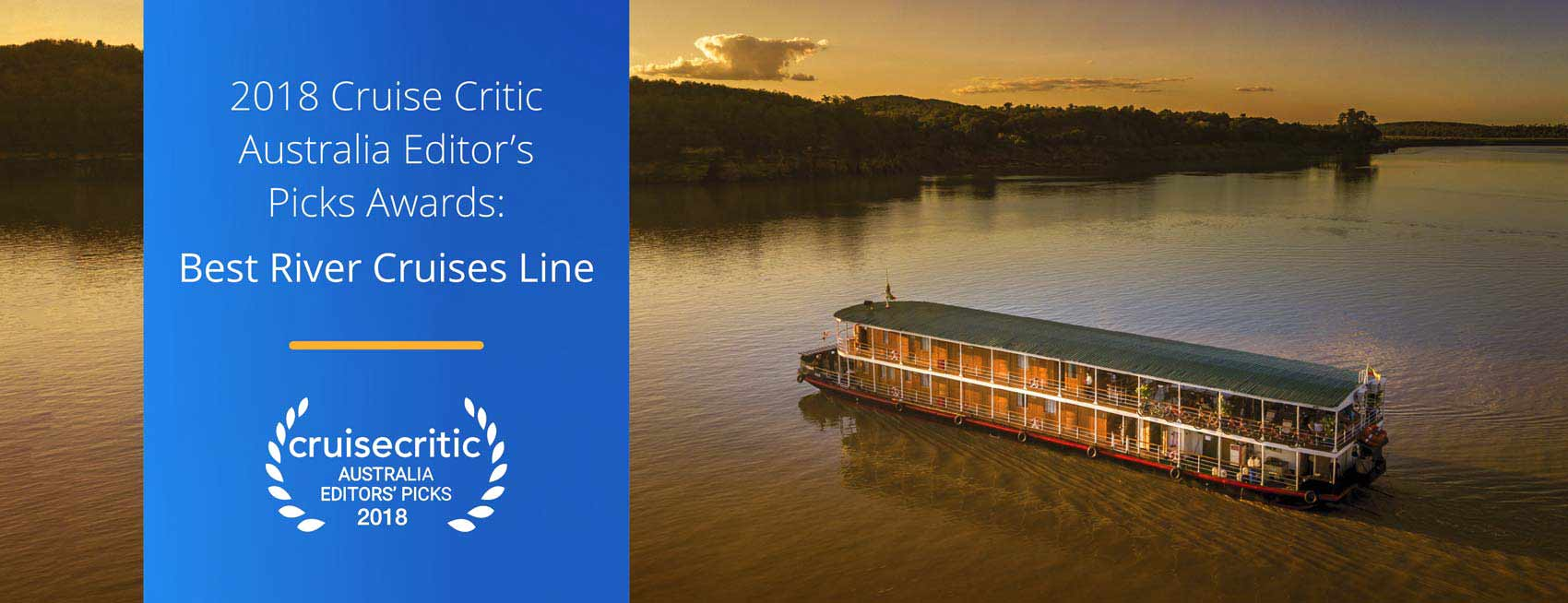 CruiseCritic Best River Cruise Line Award 2018