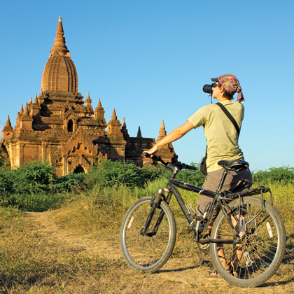 Mountain bikes available on most Pandaw ships