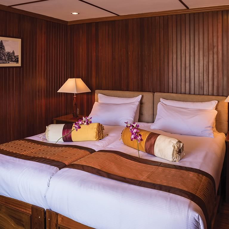 The Pandaw Cruises cabin