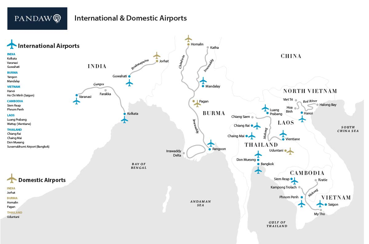 South East Asia Airports we use