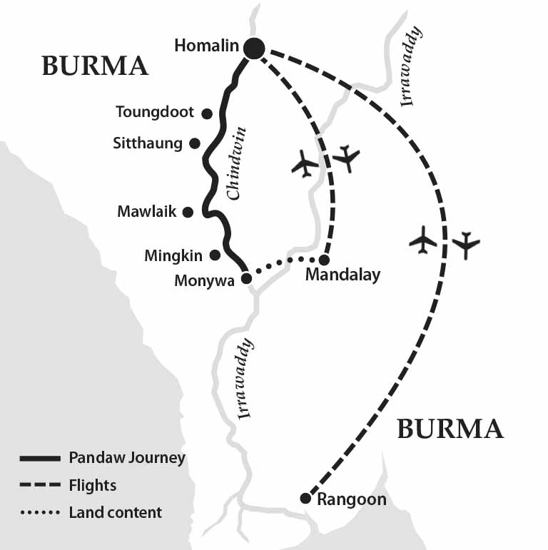 River Cruise Itinerary for The Chindwin 7 Nights Pandawcom