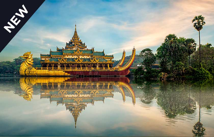 River Cruise itinerary for Rangoon to Bhamo - sail 1000 miles up the Irrawaddy