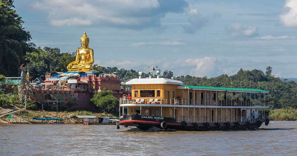RV Champa Pandaw at Chiang Saen