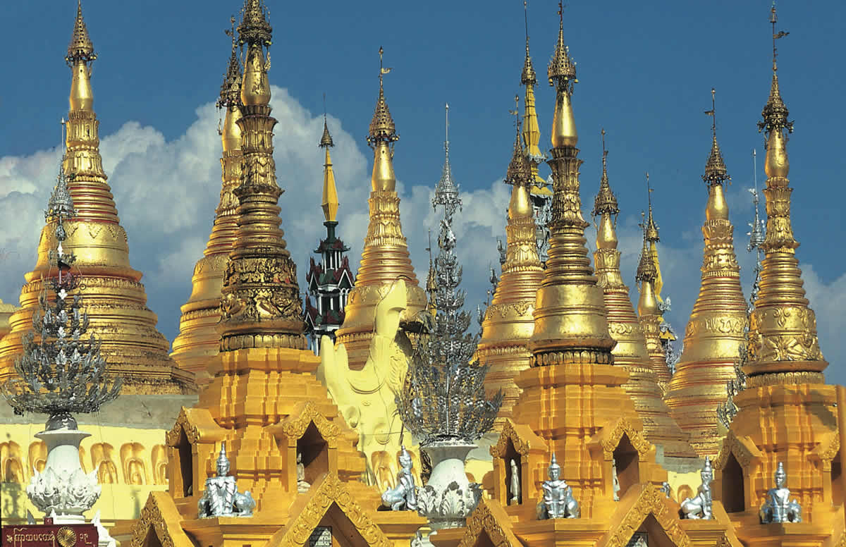Shwedagon Pagoda at Rangoon