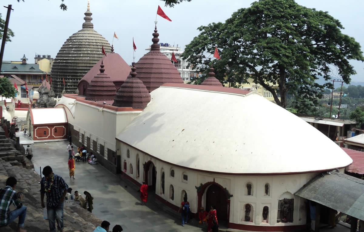 The Kamakhya temple in Guwahati